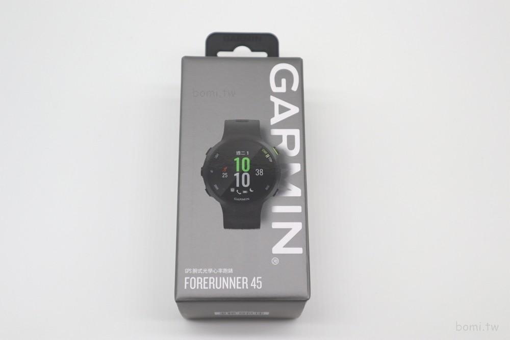 garmin forerunner 45產品外盒